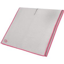 Club Glove Microfiber Monogram Caddy Towel - White-Pink