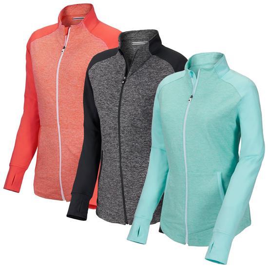 Footjoy Brushed Back Space Dye Mid Layer For Women Golfballscom