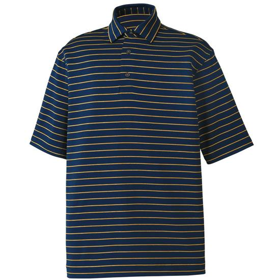 FootJoy Men's Lisle Space Dye Stripe Self Collar Polo