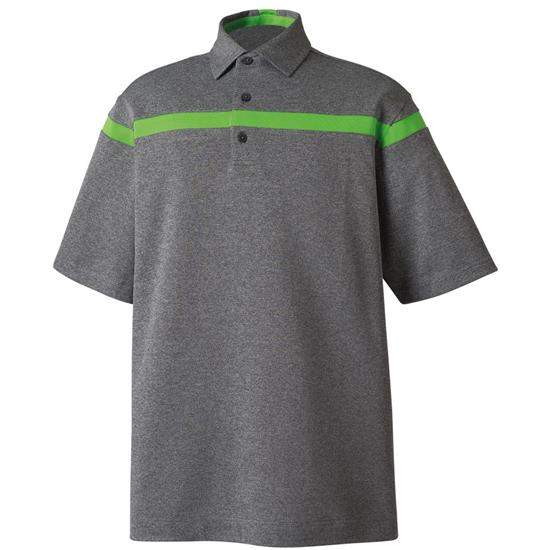 FootJoy Men's Pieced Stripe Smooth Pique Self Collar Polo