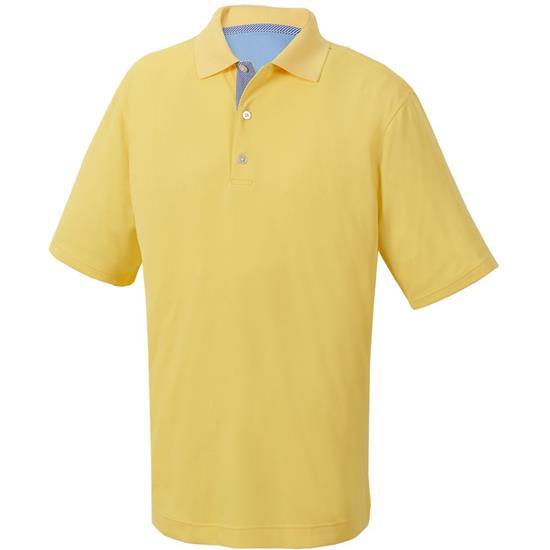 FootJoy Men's Smooth Pique Solid Knit Collar Polo