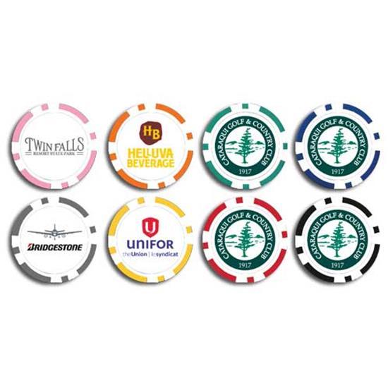 Logo poker chip ball markers