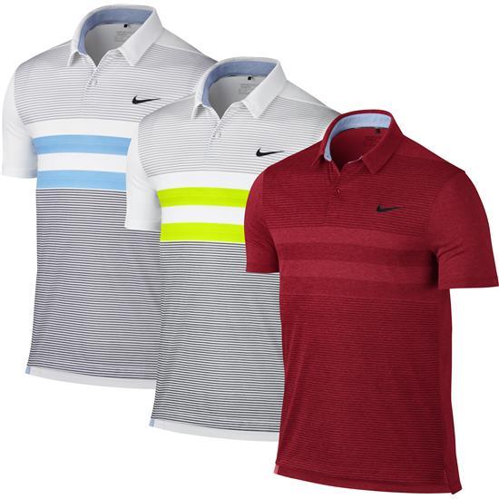 Nike men 39 s modern fit tr dry stripe polo for Modern fit golf shirt