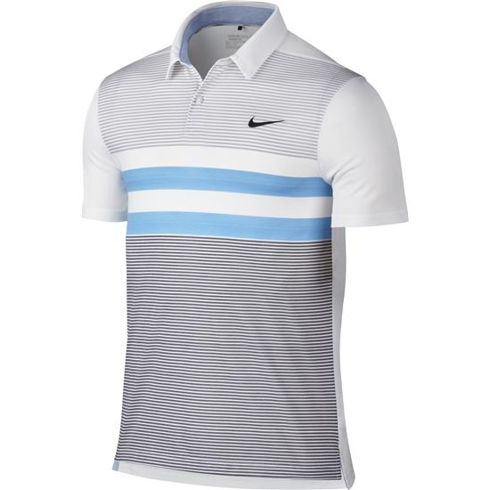 Nike Men's Modern Fit TR Dry Stripe Polo Manf. Closeout