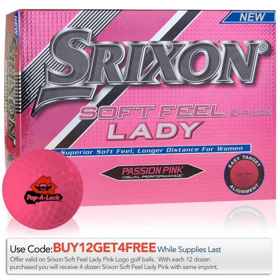 Srixon Soft Feel Lady Pink Golf Balls - 2017 Model