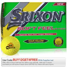Srixon Custom Logo Soft Feel Tour Yellow Golf Balls - 2017 Model