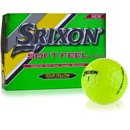 Srixon Soft Feel Tour Yellow Golf Balls - 2017 Model