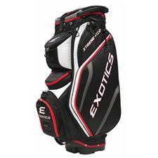 Tour Edge Exotics Xtreme Pro Deluxe Cart Bag - Black-White-Red
