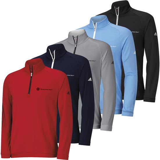 Adidas Men's ClimaWarm 3-Stripes 1/2 Zip Pullover with RG Logo