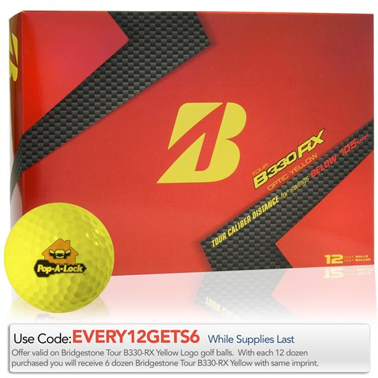 Bridgestone Tour B330-RX Optic Yellow Golf Balls