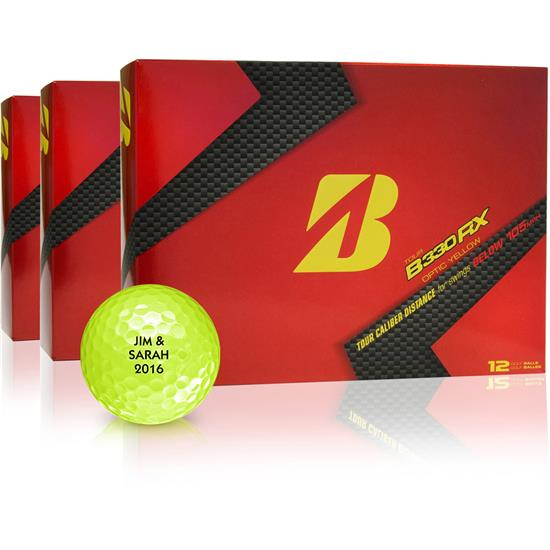 Bridgestone Tour B330-RX Yellow Golf Balls - Buy 2 Get 1 Free