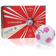 Callaway Golf Chrome Soft Truvis Pink Golf Balls