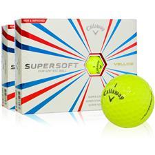 Callaway Golf Supersoft Yellow Golf Balls - 2 Dozen