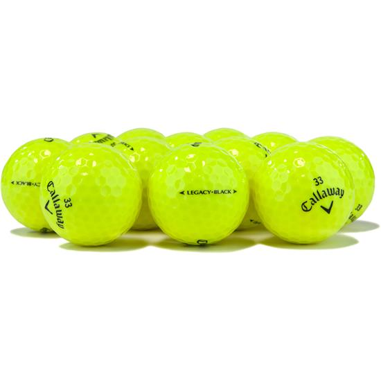 Callaway Golf Tour Select Legacy Black Yellow Overrun Golf Balls