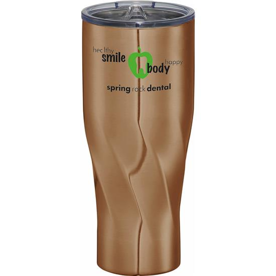 Custom Logo Travel Tumbler - 30oz