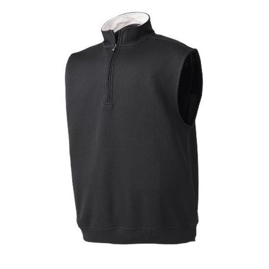 FootJoy Men's Flat Back Rib Half-Zip Mid Layer Pullover Vest
