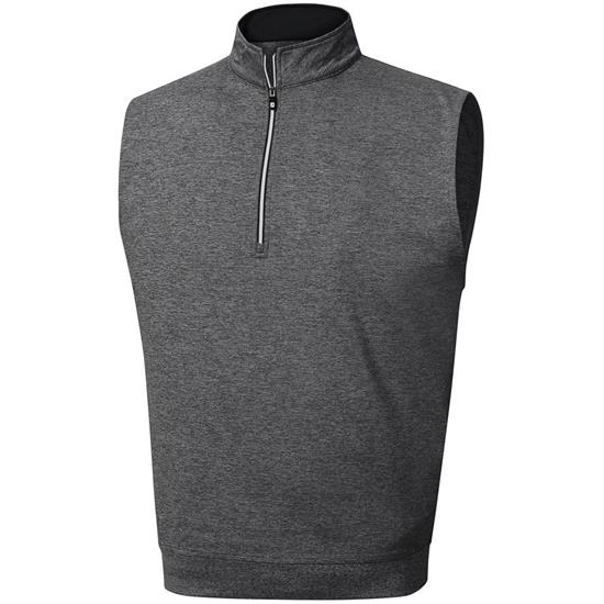 FootJoy Men's Performance Half-Zip Logo Vest with Gathered Waist