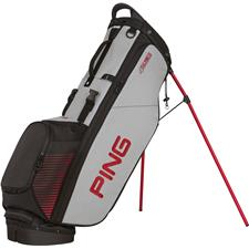 PING 4 Series Personalized Carry Bag - Black-Light Grey-Red