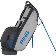 PING 4 Series Personalized Carry Bag - Charcoal-Light Grey-Birdie Blue