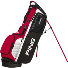 PING Hoofer 14 Personalized Carry Bag - Black-Red-White
