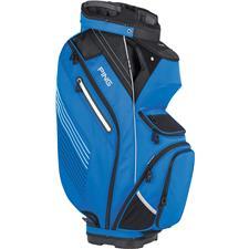 PING Pioneer Personalized Cart Bag - Birdie Blue-Black-White