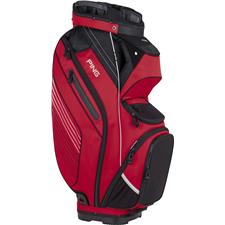 PING Pioneer Personalized Cart Bag - Red-Black-Light Grey