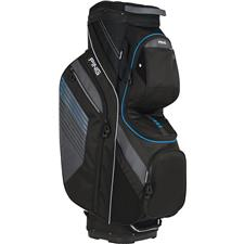 PING Traverse Personalized Cart Bag - Black-Charcoal-Birdie Blue