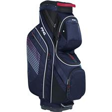 PING Traverse Personalized Cart Bag - Navy-Red-White