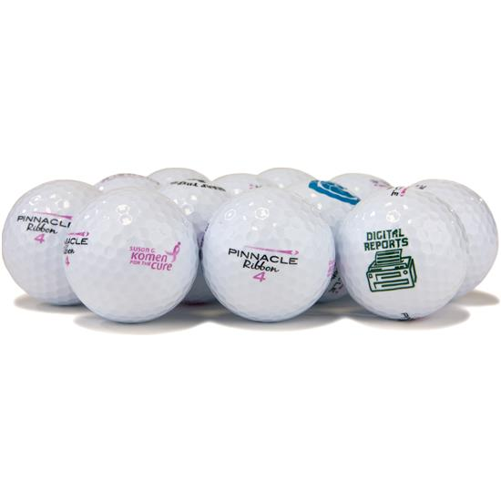 Pinnacle Ribbon Logo Overrun Golf Balls for Women