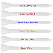 Premium 3 1/4 Inch Personalized Golf Tees