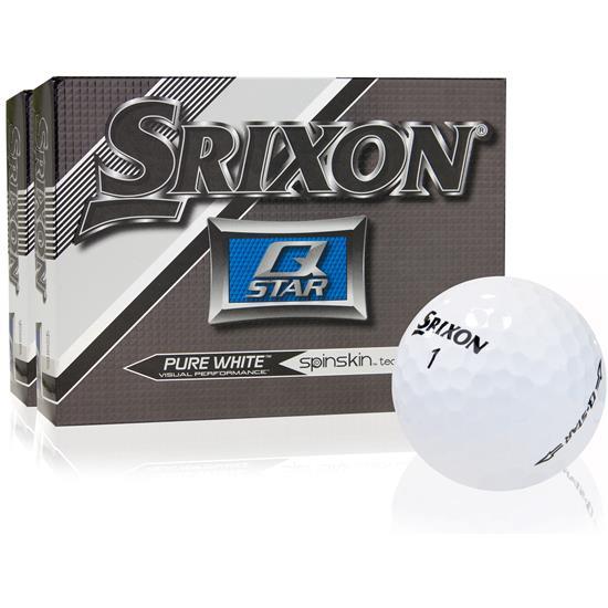 Srixon Q-Star Pure White Golf Balls - 2 Dozen