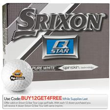 Srixon Q-Star Pure White Custom Express Logo Golf Balls