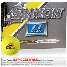 Srixon Q-Star Tour Yellow Custom Logo Golf Balls