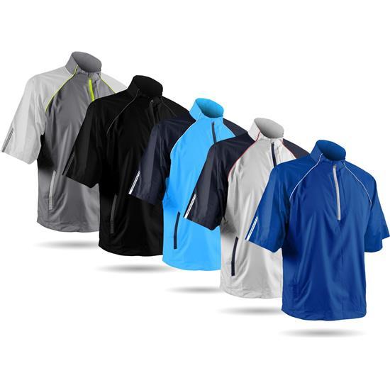 Sun Mountain Men's Headwind Windwear Short Sleeve Pullover