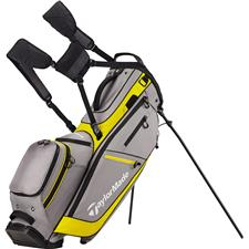 Taylor Made Flextech Crossover Personalized Stand Bag - Gray-Yellow