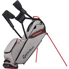 Taylor Made Flextech Lite Personalized Stand Bag - Grey-Red