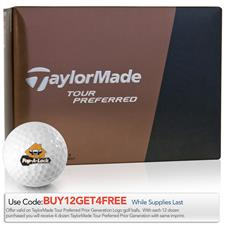 Taylor Made Prior Generation Tour Preferred Custom Express Logo Golf Balls