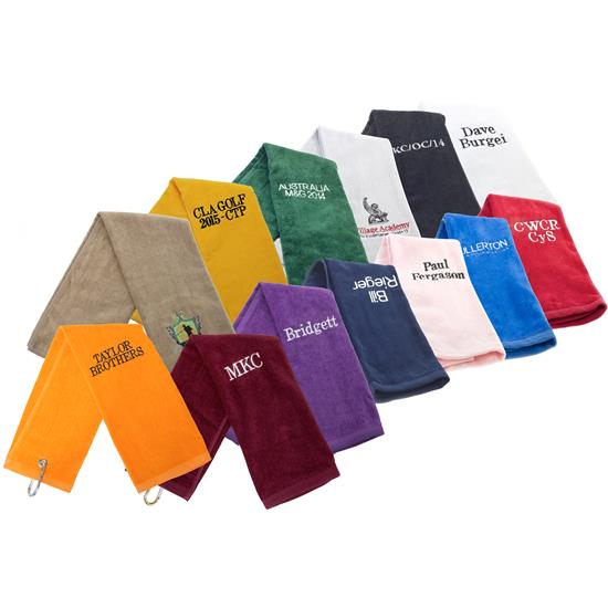 Tri-Fold Overrun Golf Towel
