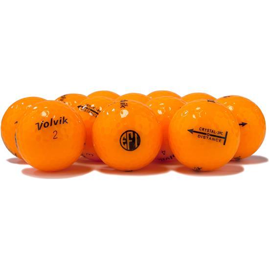 Volvik Crystal Orange Golf Balls