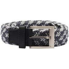 Adidas Braided Weave Stretch Belt - Black-Mid Grey-Vista Grey - Large/X-Large