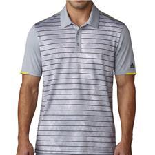 Adidas Men's Climachill Geo Stripe Print Polo