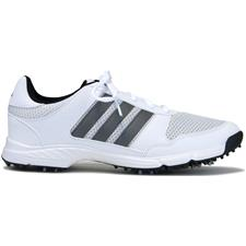 Adidas White-Dark Silver Metallic-Core Black Tech Response Golf Shoes