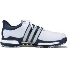 Adidas White-Dark Slate-Silver Metallic Tour 360 Boost Golf Shoes