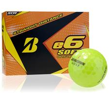 Bridgestone Custom Logo e6 Soft Yellow Golf Balls