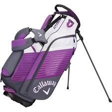 Callaway Golf Chev Personalized Stand Bag - Titanium-Purple-White