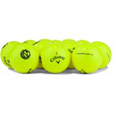 Callaway Golf Logo Overrun Chrome Soft Yellow Golf Balls