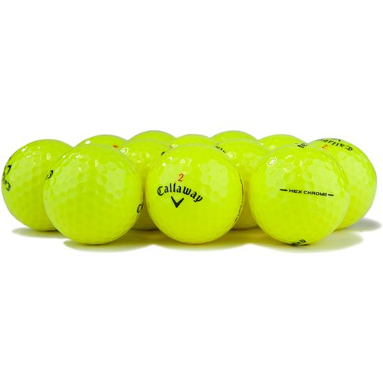 Callaway Golf HEX Chrome Yellow Logo Overrun Golf Balls