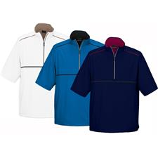 Greg Norman Men's 1/4 Zip Short Sleeve Weatherknit