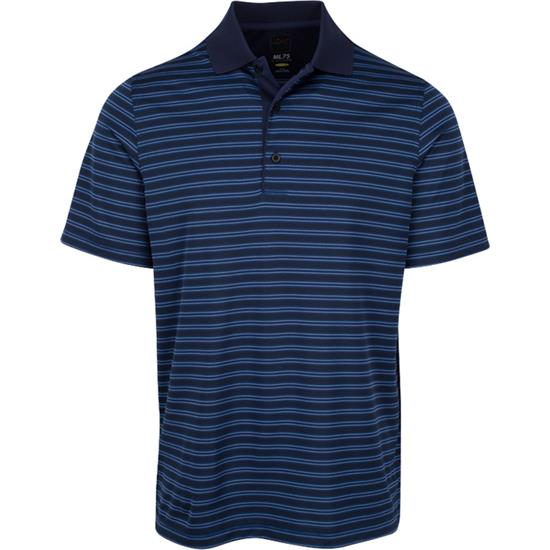 Greg Norman Men's Micro Lux Stripe Polo