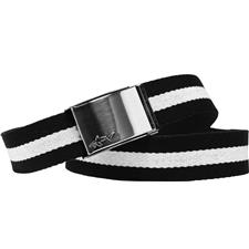 Greg Norman Shark Web Belt - Black-White